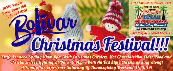 NEW Event Comes To Bolivar Peninsula Saturday Of Thanksgiving Weekend, Bolivar Christmas Festival!