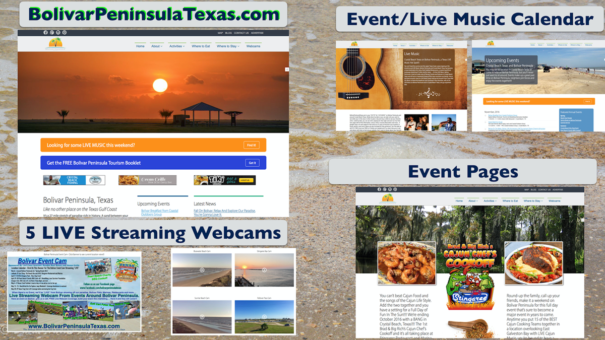 True LIVE Webcam Coverage In Crystal Beach Texas on Bolivar Peninsula!