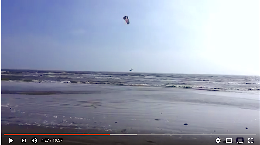 VIDEO: Kite Surfing In Crystal Beach On Bolivar